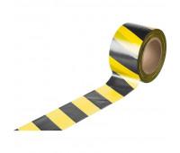 Лента оградительная желто-черная 50мм х100м