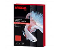 Обложки для переплета картонные Promega office крас.ленA4,250г/м2,100шт/уп.