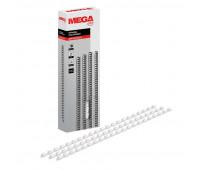 Пружины для переплета пластиковые Promega office 6мм белые 100шт/уп.