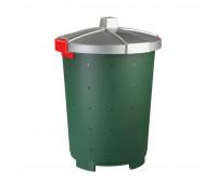 Бак для отходов 45л пластик, зеленый для пищ./непищ. прод.крышка-защелки