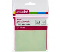 Блок-кубик ATTACHE с клеев.краем 76х76 салатовый 100л.