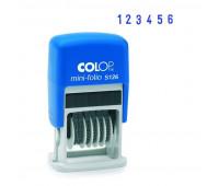 Нумератор мини 6-и раз.высота шрифта 3,8мм S126 (аналог 4836)Colop