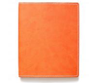 Бизнес-тетрадь Attache Клэр А5 120л, клетка, кожзам, оранжевая