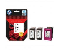 Картридж струйный HP 46 F6T40AE для DJ 2020/2520/2029/4729 (3шт/уп)