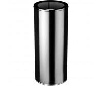 Урна 250 стальная черная 30л 25х60.2см