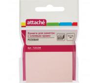 Блок-кубик ATTACHE с клеев.краем 51х51 розовый 100л.