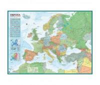 Настенная карта Европа политическая 1:4,3млн.,1,43x1,07м.