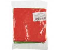 Салфетка микрофибра 30*30см, зеленая, 220гр/м2 1/400