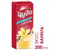 Коктейль молочный стер Чудо Ваниль 2% 0.2л TBASl