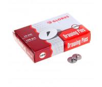 Кнопки металлические Globus, 10 мм, 100 шт.в уп. карт/коробка