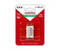 Аккумулятор Smartbuy 800mAh AAA/2BL NiMh бл/2шт