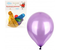 Набор шаров, металлик, цвет в асс., 30 см, 6 шт/уп арт.KL63398