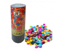 Пневмохлопушка Круглое конфетти фольгированное 11,5 см арт.Х-8072