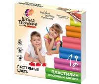 Пластилин восковой Луч Школа творчества 12 цв., 29С 1771-08