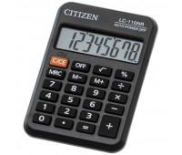 Калькулятор CITIZEN карман. LC-110NR 8 разряд.бата