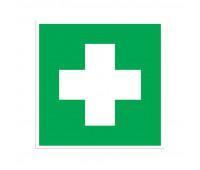 Знак безопасности EC01 Аптечка 1й мед.помощи (плёнка,200х200)