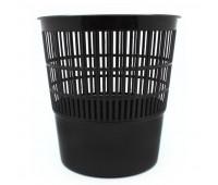 Корзина для мусора 10 л пластик черная