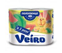 Полотенца бумажные Linia VEIRO Classic Plus 2рул./уп 2сл 6п22
