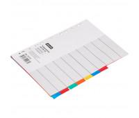 Разделитель листов 1-10, цв.карт.Attache,A4