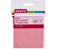 Блок-кубик ATTACHE с клеев.краем 76х76 розовый 100л.