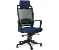 Кресло VT_CH283 ткань синяя 26-21, сетка черная, пластик