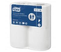 Бумага туалетная Tork T4 2сл бел вторич 23м 184л 4рул/уп 24уп/блок 120158