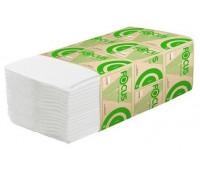 Бумажное полотенце белое FOCUS ECO 200л, 1-сл, V-сл, 23*20,5см 15/1