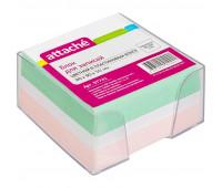 Блок-кубик ATTACHE в стакане 9х9х5 цветной блок 80 г