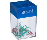 Скрепочница Attache магнит, с цвет. скрепками 28 мм (20шт.) цвет в ассорт.