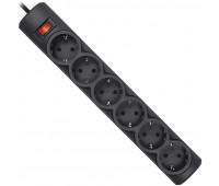 Сетевой фильтр Defender DFS 151 (6/1,8м/10А/125Дж/черный) в коробке