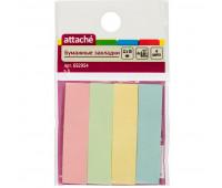Клейкие закладки бумажные 4цв.по 25л. 12ммх50 Attache