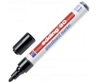 Маркер для стеклянных досок EDDING E-90/001 черный 2-3 мм круг. наконечник