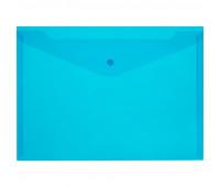 Папка-конверт на кнопке КНК 120 синий прз. 10шт/уп