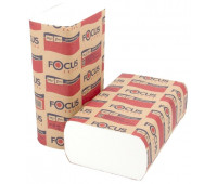 Полотенце бумажное белое FOCUS EXTRA 1сл, 250л, Z-сл, 21,5*24см 12/1