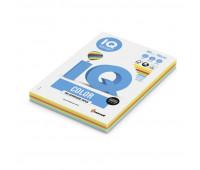 Бумага цветная IQ COLOR (А4,160г, 5цв. RB02 интенсив по 20л.) пачка 100л.
