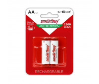 Аккумулятор Smartbuy 2500mAh AA/2BL NiMh 2шт/бл (SBBR-2A02BL2500)